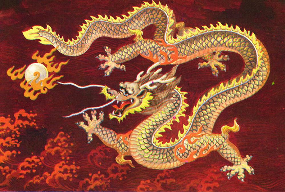 Chinese dragon art